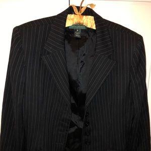 Ralph Lauren wool pin-striped cropped blazer
